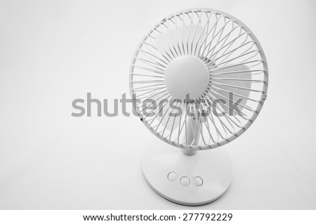 An electric fan on white background - stock photo