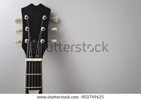 An Electric guitar;s neck