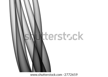 An elegant abstract cluster of calm curved shapes reach upwards - stock photo