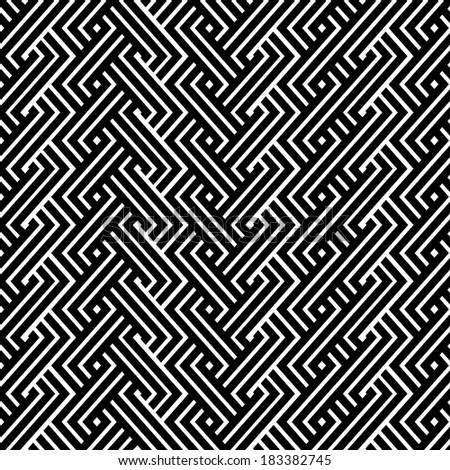 An elegant black and white pattern