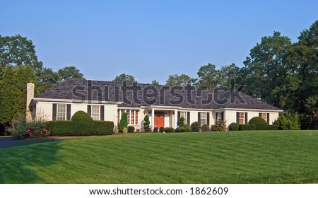 Ranch style home Stock Photos, Ranch style home Stock Photography ...