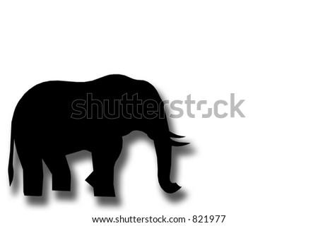 An elephant. - stock photo