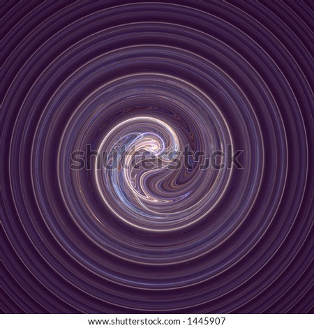 An embryonic form at the center of an ever-deepening spiral of life... - stock photo