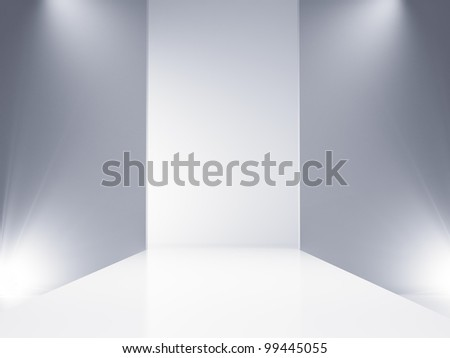 An empty catwalk stage set - stock photo