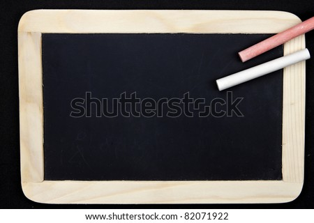 an empty chalkboard to write a message on it