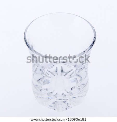 An empty glass - stock photo