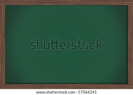 An empty green chalkboard , School Days - stock photo