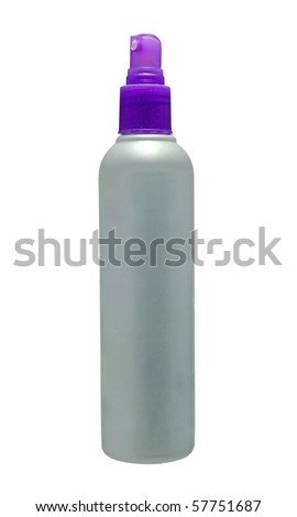 An empty hairspray container ready for your label - stock photo