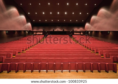An empty modern Theater