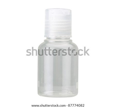An empty plastic bottle for cosmetic or medicine - stock photo