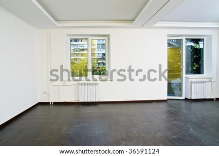 An empty room just after recondition - stock photo