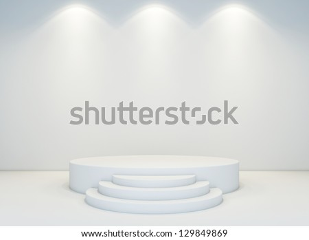 An empty round stage set