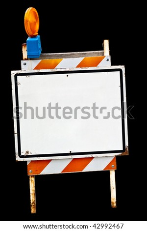 An empty sidewalk sign. Isolated, with clipping path. - stock photo