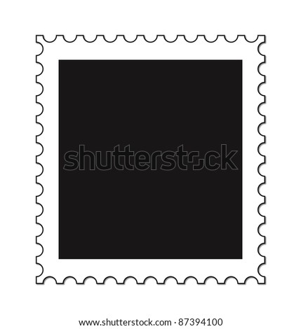 An empty stamp isolated on a white background - stock photo