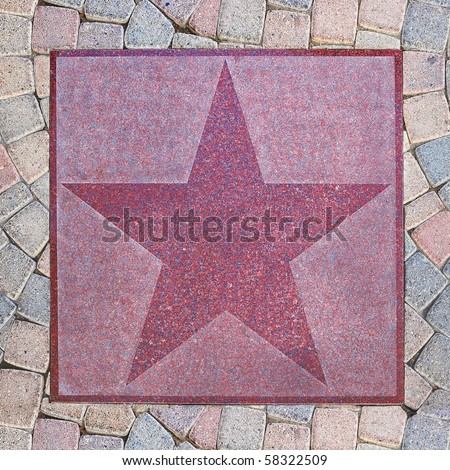 An empty star from Palm Canyon Drive in Palm Springs, California. - stock photo