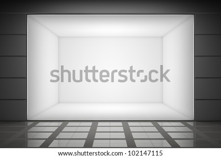An empty storefront of shop - stock photo