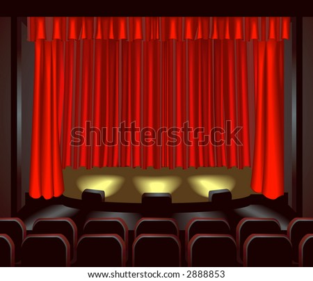 an empty theatre stage for you to place what you like on. Raster version - stock photo