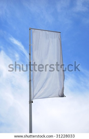 An empty vertical banner. Put text at your own - stock photo