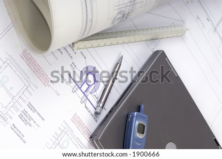 An Engineer's tools of the trade lay on a desk