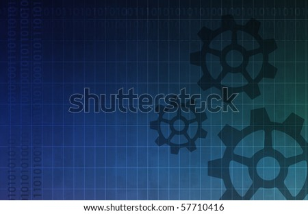 An Engineering Background with Cog Gears Art - stock photo