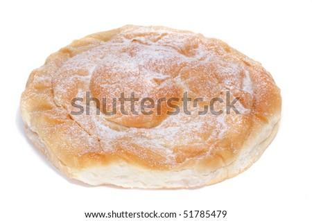 an ensaimada, a typical pastry of Mallorca, Spain - stock photo