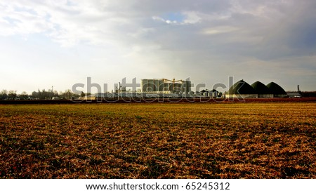 an ethanol production plant in the southwestern Ontario - stock photo