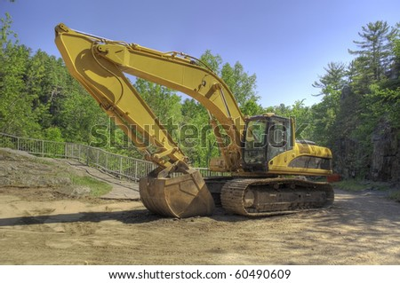 An excavator at a Digging site