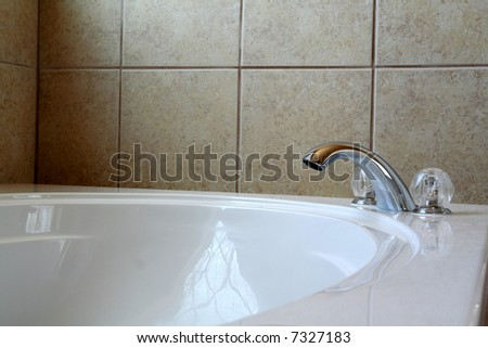 An executive bathroom in a luxury home - stock photo