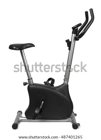 An exercise bicycle isolated on white background