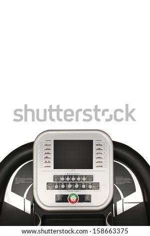 An exercise treadmill on a plain background - stock photo