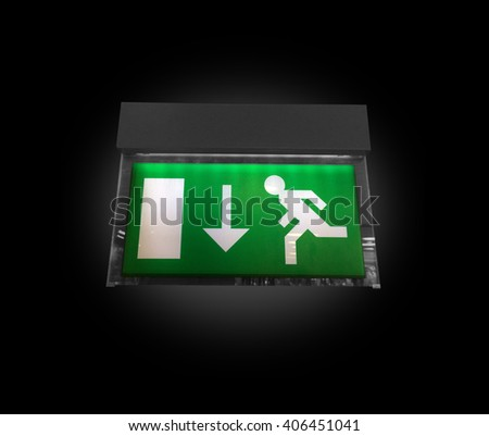 An exit sign - stock photo