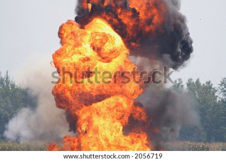 An explosion - stock photo