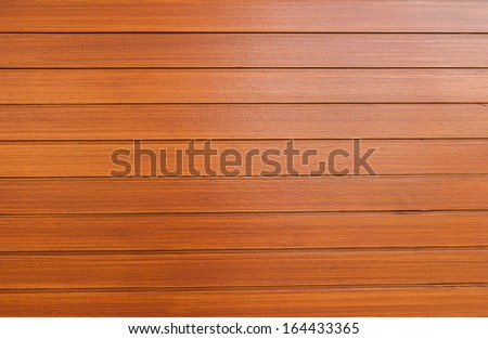 An exterior wall surface of horizontal wooden planks painted - stock photo