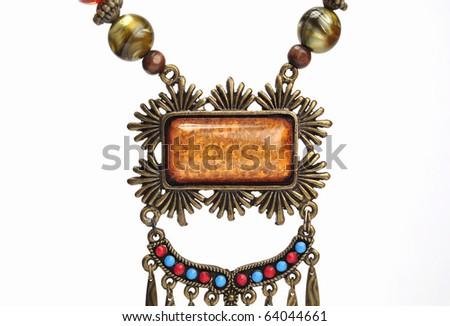 An extreme close of a rustic pendant. - stock photo