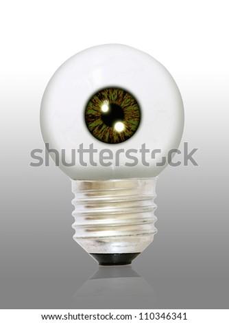 an eyeball bulb - stock photo
