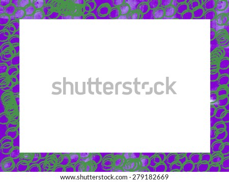 An fresh, colorful, unique border can be used for any type of art and photo outline. It adds texture and character to any project. - stock photo