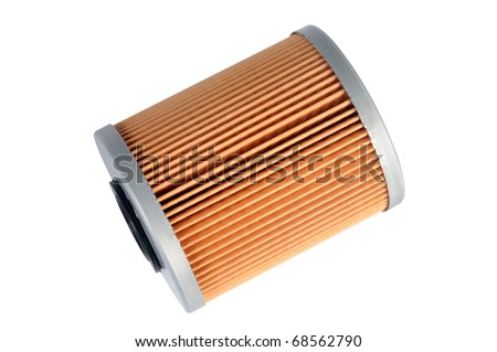 an fuel filter, auto spare part, clipping path - stock photo