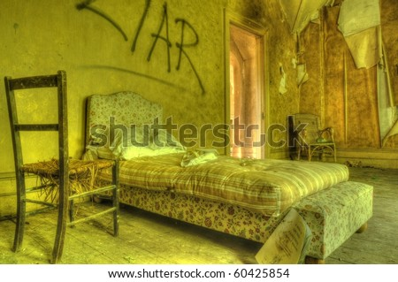 An HDR images of a Derelict Badroom - stock photo