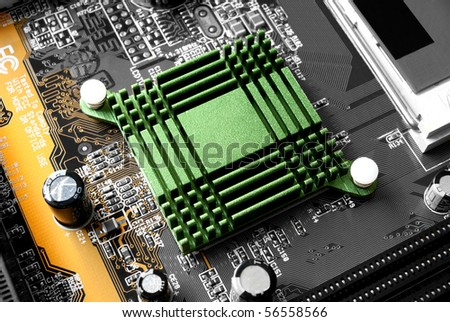 an high tech component of a motherboard