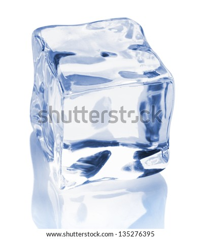 an ice cube  isolated on a white background
