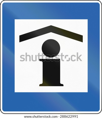 Icelandic Traffic Sign Information Centre Stock Illustration