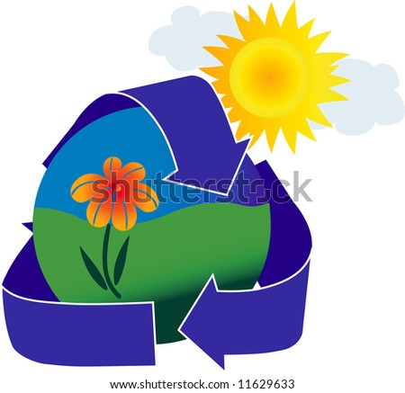 An icon depicting a healthy environment. - stock photo