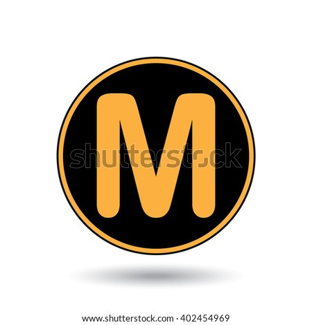 An Icon Illustration Isolated on a Background - M