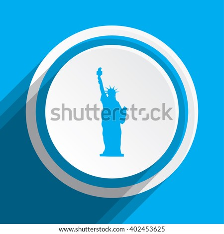 An Icon Illustration Isolated on a Background - Statue Of Liberty - stock photo