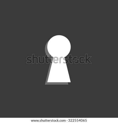 An Icon Isolated on a Grey Background - Keyhole