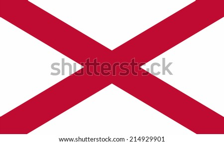 An Illustrated Drawing of the flag of Alabama state (USA) - stock photo