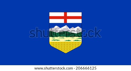 An Illustrated Drawing of the flag of Alberta - stock photo