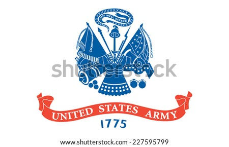 An Illustrated Drawing of the flag of Armed Forces of the United States - stock photo