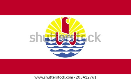 An Illustrated Drawing of the flag of French Polynesia - stock photo