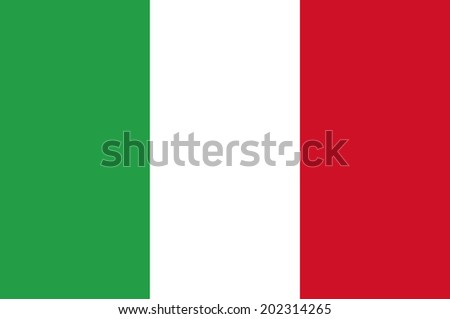 An Illustrated Drawing of the flag of Italy  - stock photo